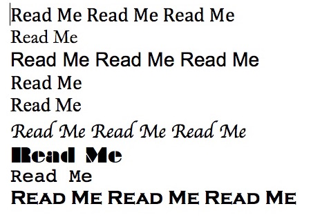 Read Me Fonts cropped