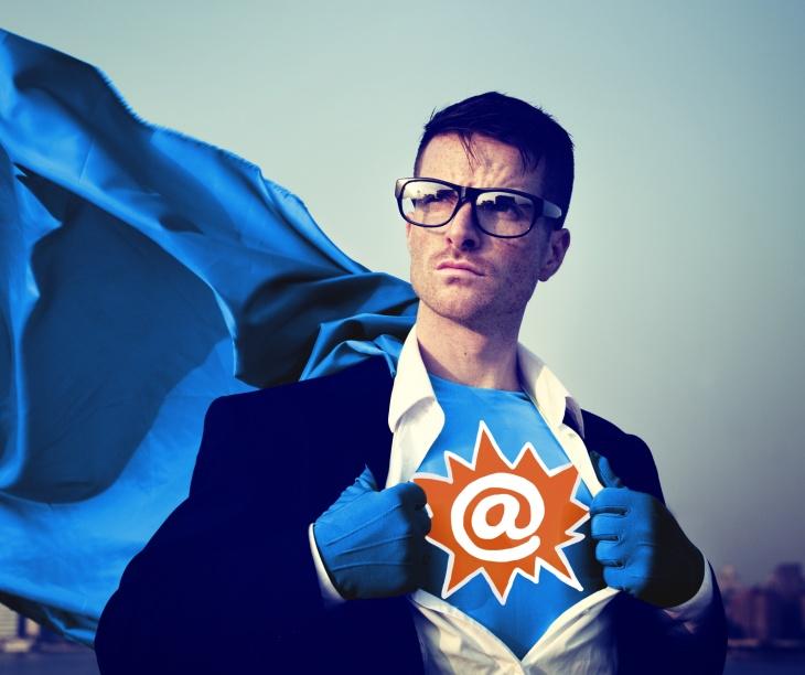 Address Strong Superhero Success Professional Empowerment Stock Concept