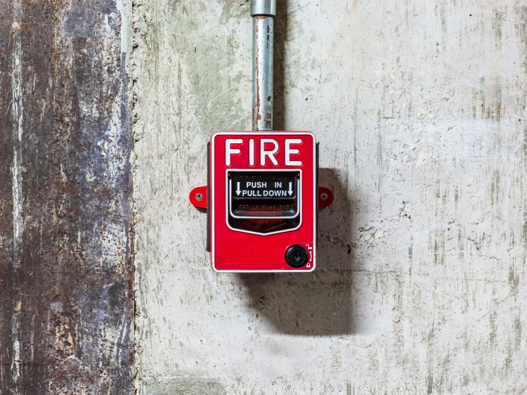 Fire alarm push botton