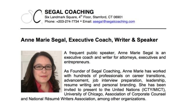 Image of Speaker Bio - Anne Marie Segal