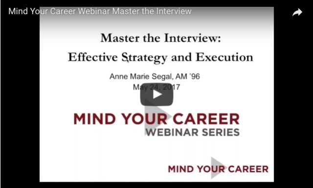 Master the Interview: University of Chicago Webinar