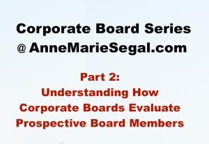Corporate Board Service: Part 2