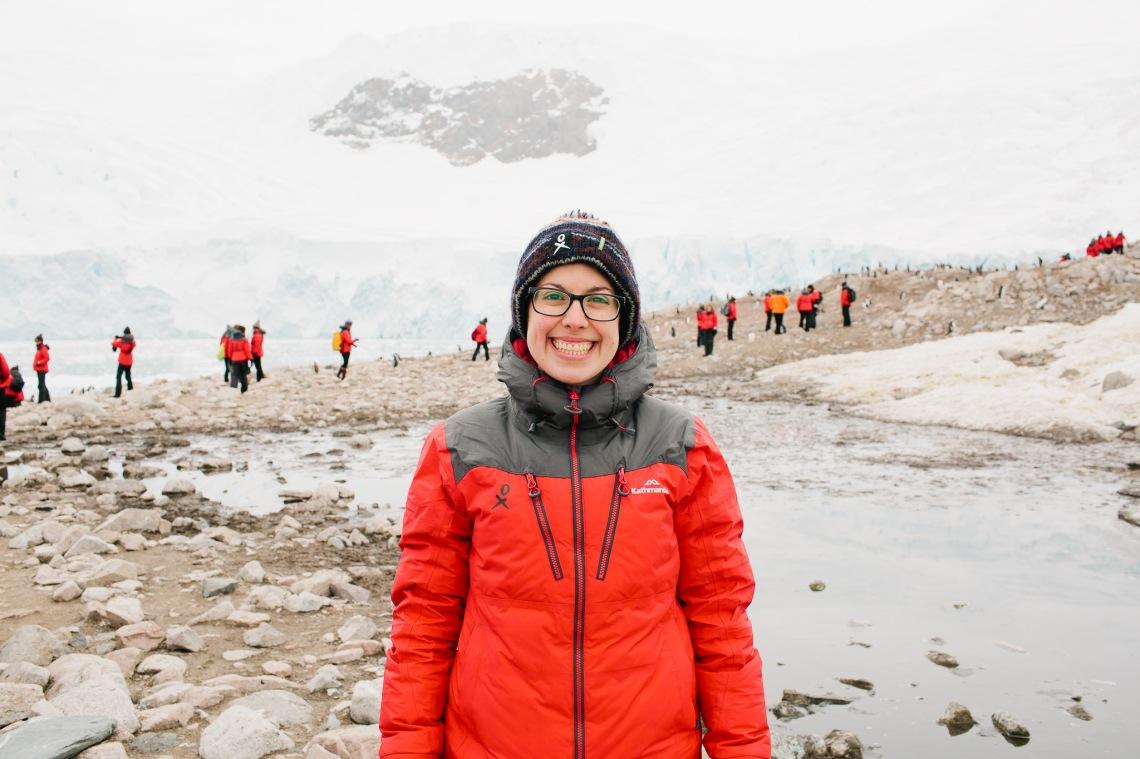 Catherine Sorbara in Antarctica.